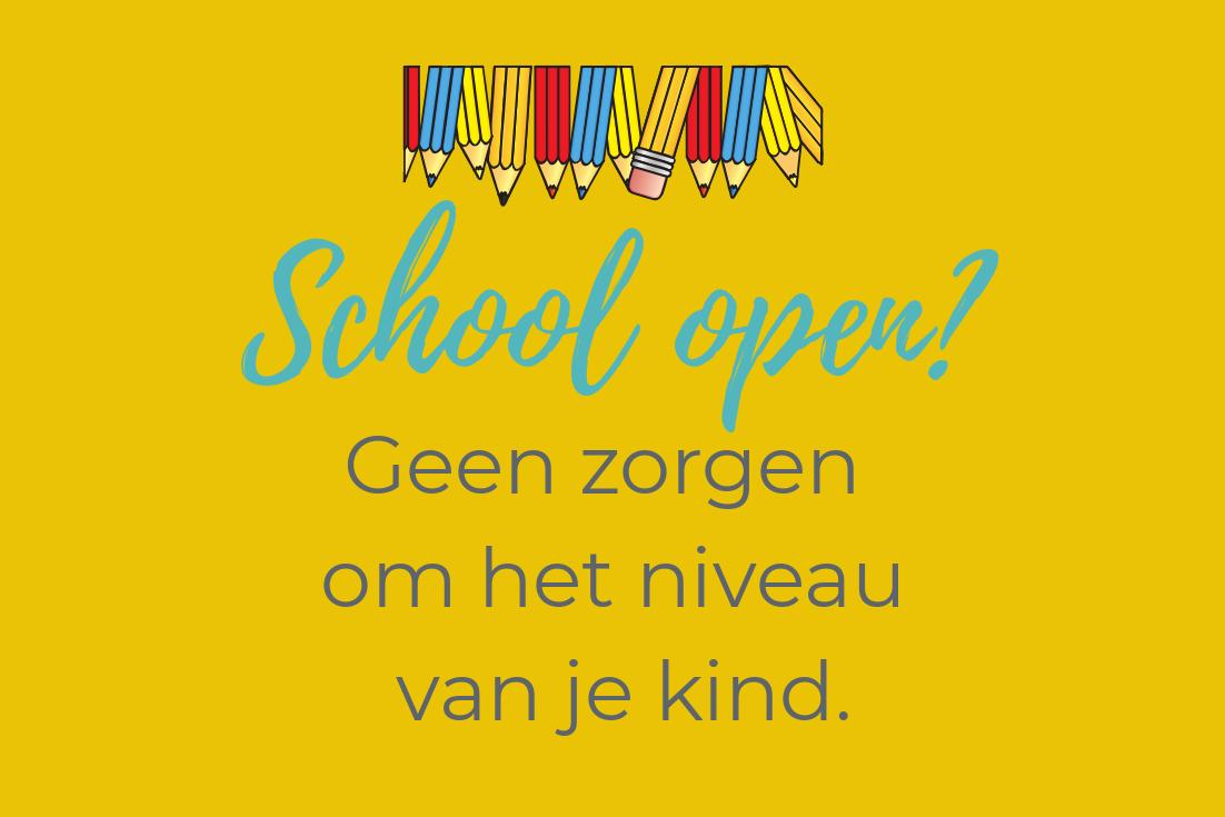 De scholen weer open?